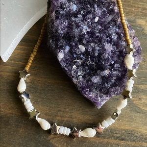 GOOD VIBES ONLY SHELL PUKA CHOKER NECKLACE